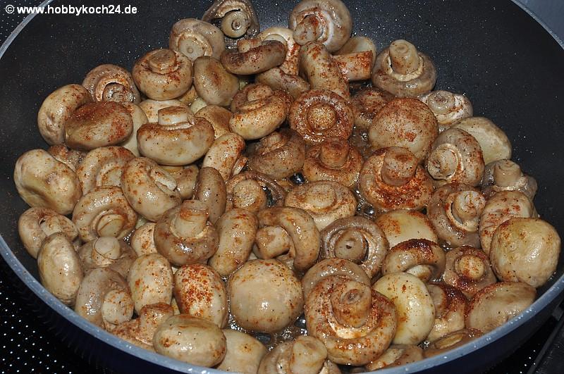 frische champignons putzen