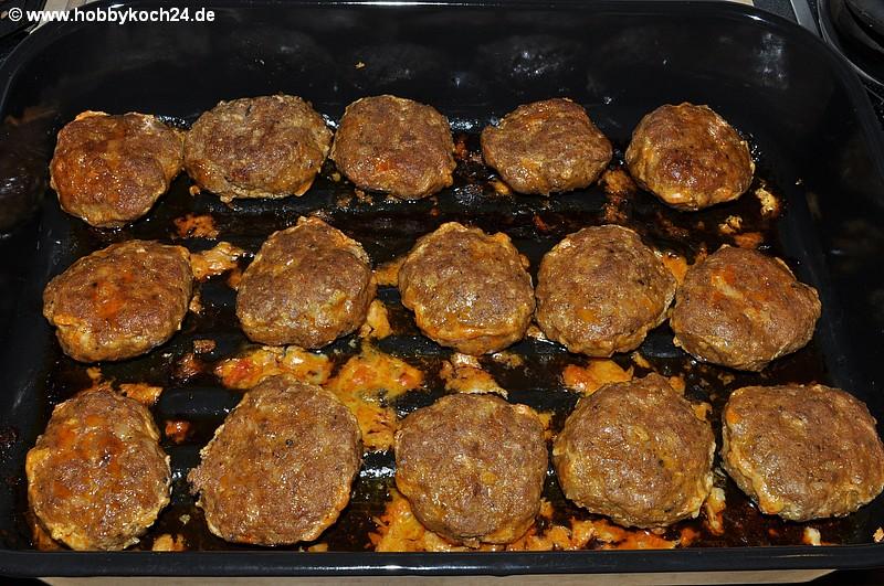 Frikadellen (Fleischküchle) aus dem Backofen  hobbykoch24de
