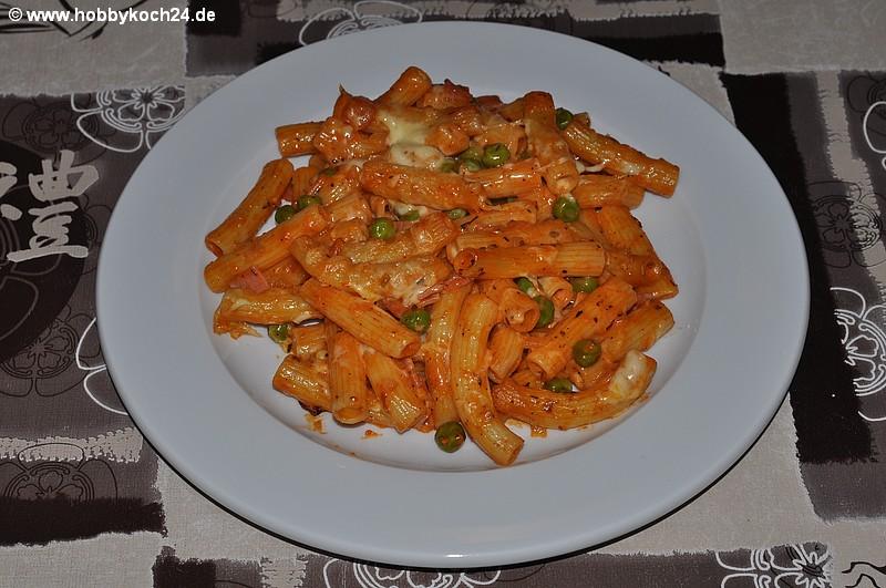 Spaghetti mit schinken sahne soße