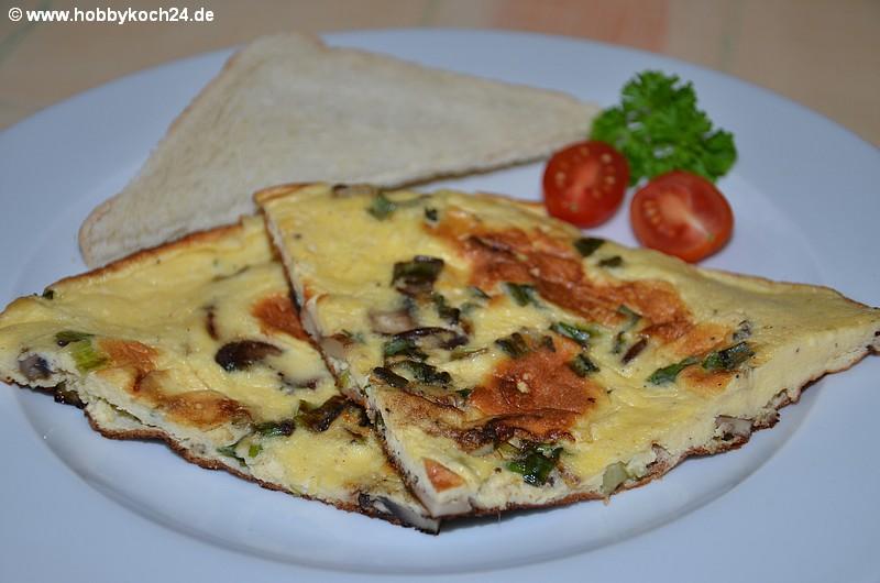 omelette mit pilzen rezept