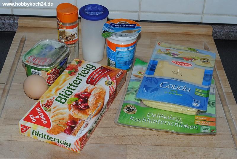 Schinken Käse Blätterteigtaschen Hobbykoch24de